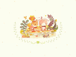 Shiba Inu and friends by ethe