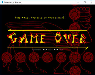 Game Over Screen by PeKj