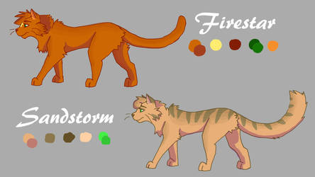 Firestar and Sandstorm Character Refrence by IVSaker