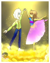 -DanceTale- Frisk and Asriel by Lisseth-chan