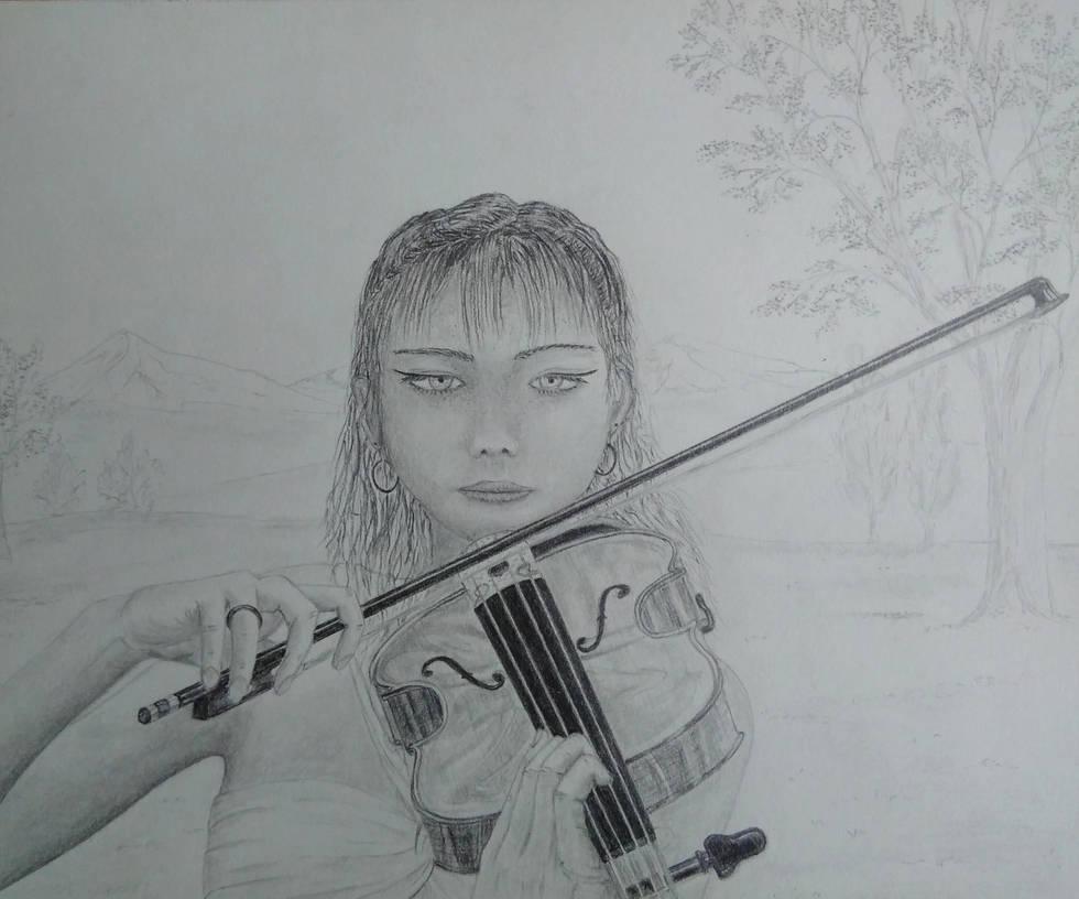 violin player by indigo7232