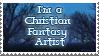 Christian fantasy artist stamp by Lightmare7