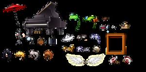 Maplestory items by iiChicken