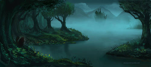 Scary forest by Darrison