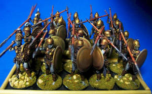 Dark Amazon Hoplites by Spielorjh