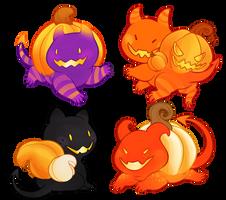 Pumpkin Biters - sold! by gatorstooth