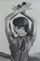 Flamenco dancer by SamanthaJordaan