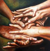 Better together - oils by SamanthaJordaan
