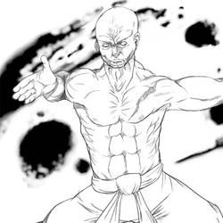 Muscular badass by Skrunch