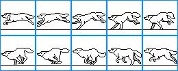Wolf running icon base by DreyaCira