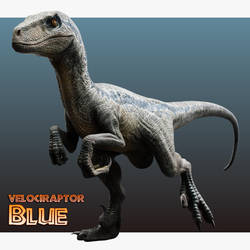 Jurassic World Velociraptor - Blue by Benjee10