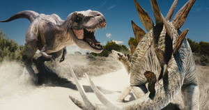 Rex vs Steg by Benjee10
