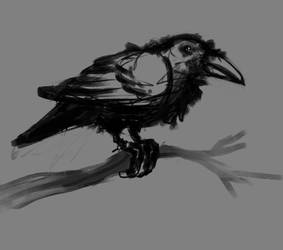 raven sketch by AtreyoS