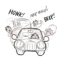 Scared Car Rushing by basakward