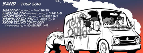 BAND Comic Con tour 2016 by basakward