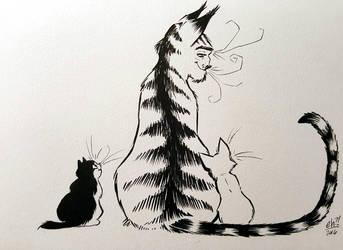 Cat-Pa by basakward