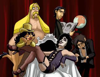 BAND in Rocky Horror by basakward