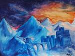 Skyhold - watercolor painting by ellieshep