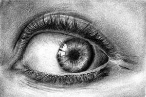 Realistic Eye Drawing by Keshavsart