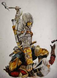 Assassins creed 3 drawing by Keshavsart