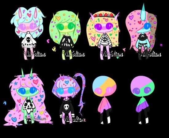 pastel trolls {closed} by Vitifolium