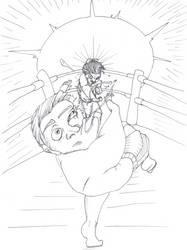 Inktober Day 24: A Cruel Defeat by dragonweird