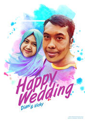 Happy Wedding for my cousin by Rizkyuto