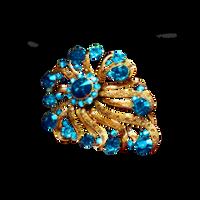 Blue Gold Brooch PNG Vampstock by VAMPSTOCK