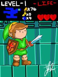 Link NES dungeon by Josephgrz