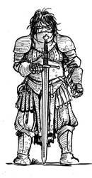 Girls in armor: Steel maiden by TuomasMyllyla