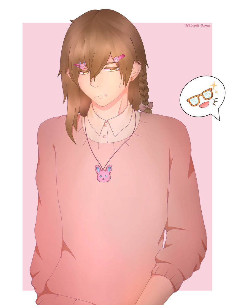 I Wanted To Draw Him In A Cute Pink Outfit By Miroki Sama On Deviantart
