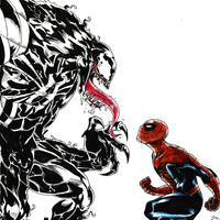 Spider Man  Venom Face-off by JaynardoDaVinci98