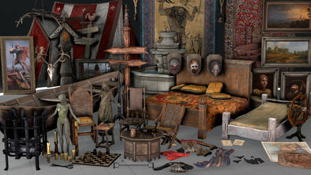 The Witcher 3 Prop Pack 3 by ShittyHorsey