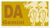 Zodiac Stamp 'Gemeni' by Sharkfold