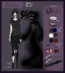 Creepypasta/Horro ref Blade The Assassin (updated) by Trix-Gaming-Artist