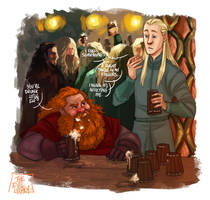LOTR - You're drunk little elf? by the-evil-legacy