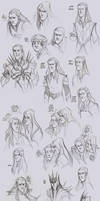LOTR - Melkor and Mairon by the-evil-legacy