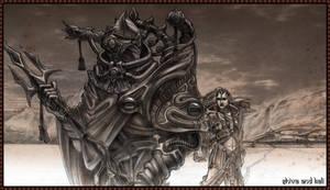 Shiva and Kali on the hunt by jubjubjedi
