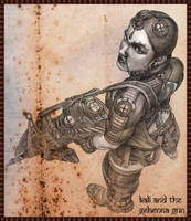 Kali with the Gehenna Gun by jubjubjedi