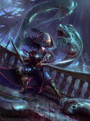 Katarina the Pirate Captain by jubjubjedi