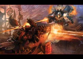 Raven Guard vs. Chaos - Warhammer 40K:Deathwatch by jubjubjedi