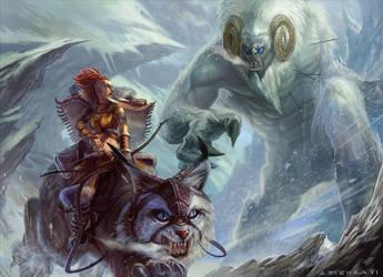 Hunter and Yeti by jubjubjedi