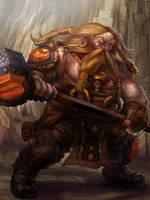 Dwarf Warrior Level 1 by jubjubjedi