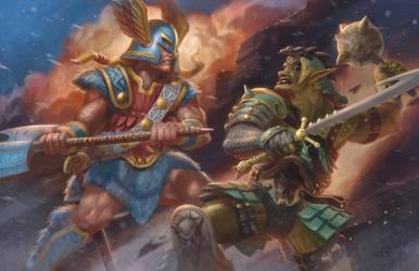 Northlord vs. Ogre King by jubjubjedi