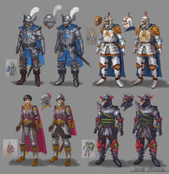 Dungeons and Dragons figure designs (updated) by jubjubjedi