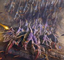 Swarming Termagants -Warhammer 40,000: Conquest by jubjubjedi