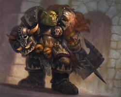 Boss Thrungra - Warhammer Quest:The Card Game by jubjubjedi