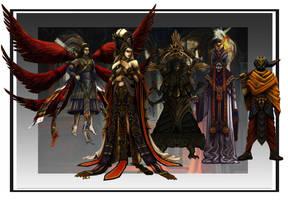 Fantasy Character Concepts by jubjubjedi
