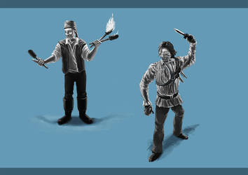 Circus characters by KennedFood
