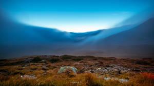 Foggy Sunset by artigianodellaluce